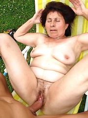cum inside nasty granny with flimsy pussy