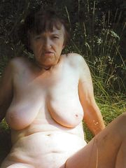 dirty granny warm her holes jammed
