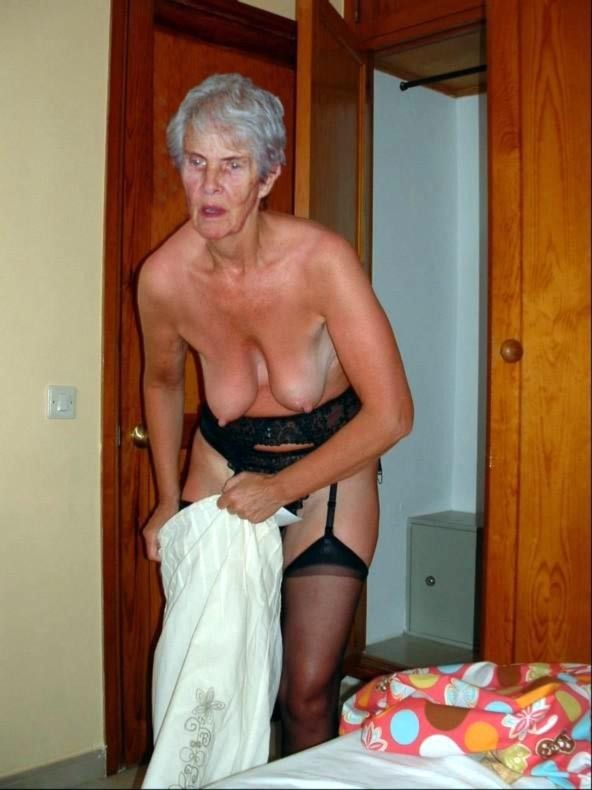 Old granny black cock